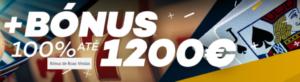 Casino: Bónus de Registo 10€ + Bónus Boas-Vindas 100% até 1200€